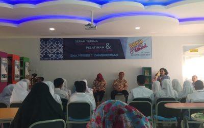 Serah Terima Pojok Baca Balai Batik & Pelatihan Membatik